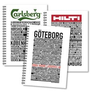 Skrivböcker med reklam Gullers Trading